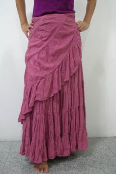 long wrap skirt. I like.