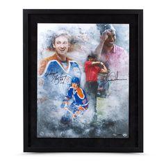 "TIGER WOODS & WAYNE GRETZKY AUTOGRAPHED ""RAREFIED AIR"" 16 X 20 FRAMED UDA LE 100 - Game Day Legends - www.gamedaylegends.com Sports Memorabilia"