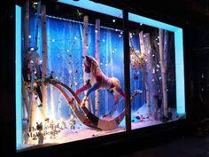 """Escaparates de Navidad 2014: mucho frío y bosques """"encantados"""" en Londres. #Harrods #christmas"""