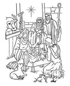 Nativity scene coloring pages, Nativity scene coloring book ...