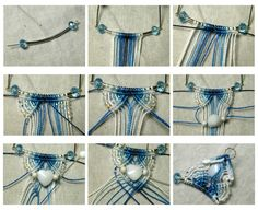 Micro macrame necklace tutorial