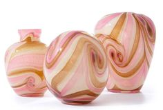 Two's Company - Hand Blown Glass Vases #pink #vases