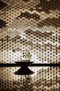Just a tiny bit in love with this company. Look at their magnificent craftsmanship - you'll see why we are fans. Chinese Architecture, Interior Architecture, Interior And Exterior, Interior Design, Japanese Modern, Japanese Design, Japanese Art, Lattice Screen, Metal Screen