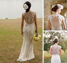 Lace on the back of your bridal gown is a popular look in 2013. | http://www.jardinweddings.com/2013-spring-bridal-gown-trends