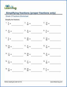 grade  fractions worksheet converting improper fractions to mixed  grade  fractions  decimals worksheet simplifying fractions  proper fractions  grade  math worksheets
