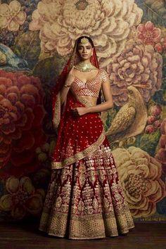 Looking for Sabyasachi maroon velvet bridal lehenga? Browse of latest bridal photos, lehenga & jewelry designs, decor ideas, etc. on WedMeGood Gallery. Designer Bridal Lehenga, Indian Bridal Lehenga, Indian Bridal Outfits, Indian Bridal Fashion, Indian Bridal Wear, Indian Dresses, Bridal Dresses, Pakistani Bridal, Moda India