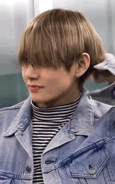 ....can he see?? i know it's hard to see through bangs when they're that long