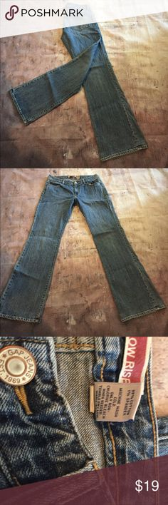 Gap size 10 curvy low rise Curvy low rise size 10 Gap   Five pocket with single button and zipper closure. Inseam approximately 32.  Rise approximately 9.    (256) GAP Jeans Boot Cut