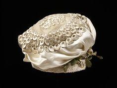 "1818-1823 ""Turban"" - Silk, silk thread, paper, cotton, wire; hand-sewn"