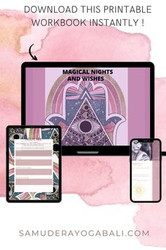 Get your workbook now!! 12 magical Rauhnächte Manuel and 21* bonus worksheets 82 printable & edtidtable workbook about the 12 rauhnächte plus 21*Bonus beautiful designed worksheets and a calendar 📅 all with seperate pdfs and instantly easy access! downloadable 📲 Bali Yoga, Online Yoga Classes, Yoga Routine, Thing 1 Thing 2, Positive Affirmations, Free Ebooks, Easy Access, Worksheets, Journaling