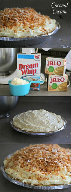 Coconut Cream Pie - rich, creamy, and delicious!