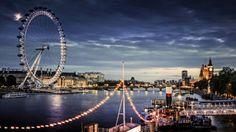 Sulla ruota di #Londra sul far della sera. Attenzione alla cabina #13!