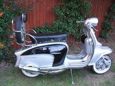 Black and Silver Lambretta