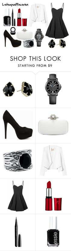 """Letempseffacerien"" by meliiissav ❤ liked on Polyvore featuring beauty, Kendra Scott, Tommy Hilfiger, Nly Shoes, Oscar de la Renta, Effy Jewelry, Rebecca Taylor, Glamorous, Marc Jacobs and Essie"