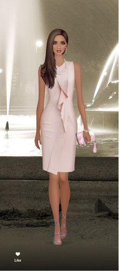 Royal Fashion, Fashion Looks, Simple Dresses, Short Dresses, Look Formal, Contemporary Dresses, Cocktail Attire, Power Dressing, Covet Fashion Games