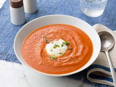 Melissa's tomato soup gets tons of flavor from roasting the tomatoes first--this brings out their natural sweetness.