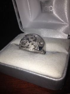 1/4 CT. T.W. #Diamonds Swirl Ring in Sterling Silver - Size 8 #gifts #fashion #ladies