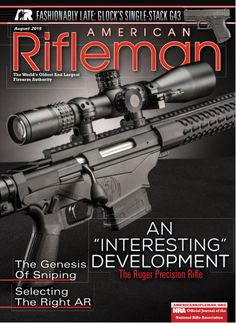 The New Ruger Precision Rifle™ is featured on the cover of American Rifleman magazine's August issue.