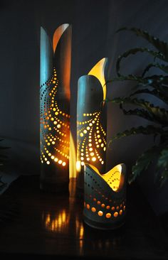 """Bamboo lamp """"Mutare"""" from our Lighting collectie."""
