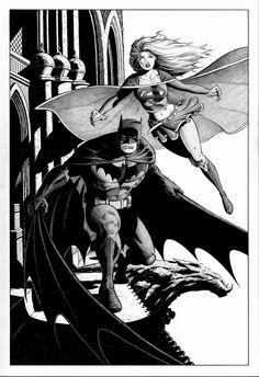 Batman & Supergirl by Ian Churchill