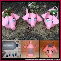 Dollar Store Crafter: Turn Empty Pop Bottles Into Piglet Planters