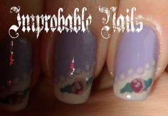 Improbable Nails: WINTER ROSES nails + make up in collaborazione con Alice in Makeupland