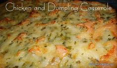 Chicken and Dumpling Casserole made with Homemade Biscuit Mix and Cream of Soup Base RecipesForMyBoys.com