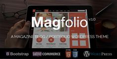 awesome Magfolio - WP WooCommerce Portfolio Blog Theme