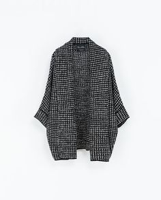 Zara two tone wrap jacket Zara New, Long Jackets, Zara Women, Sweater Jacket, Autumn Winter Fashion, Winter Style, Her Style, Passion For Fashion, Knitwear