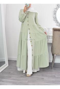 Modest Fashion Hijab, Abaya Fashion, Fashion Outfits, Hijab Gown, Moslem Fashion, Long Dress Design, Designs For Dresses, Mode Hijab, Stylish Dresses