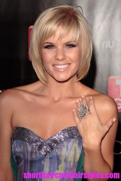 Short Hairstyles For Fine Hair | for Fine Hair Kimberly Caldwell Bob Hairstyle for Short Fine Hair ...