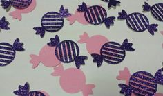 Candyland or sweet shoppe birthday party or Baby shower Decor table or invitation confetti