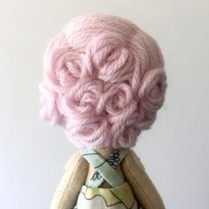 blush pink pin-curls