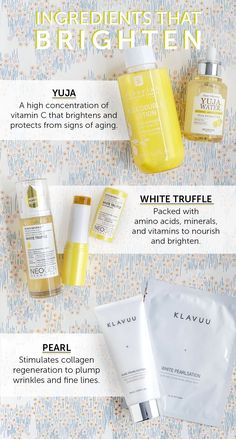 Dark spots, acne scars, and dull skin? Here are some ingredients that will brighten!