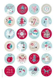 weihnachten motive ** 24 advent calendar numbers KIDS ** 40 mm diameter, stickers 24 different motifs in winter-Christmas colors. Diy Christmas Gifts For Family, Homemade Christmas Gifts, Christmas Love, Christmas Colors, Winter Christmas, Christmas Crafts, Christmas Decorations, Xmas, Advent Calenders