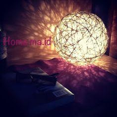 HOME MAde IDeas: Lampada di spago Fai Da Te