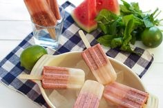 Watermelon Mojito Ice Pops #HolidayFoodParty   The Girl in the Little Red Kitchen