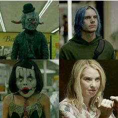 "26 Likes, 1 Comments - AHS CULT (@ahscultcentral) on Instagram: ""The clowns of AHS CULT EXPOSED  Leslie Grossman and Evan peters  #ahscult"""