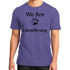 We are LibreStrong District T-Shirt (on man)