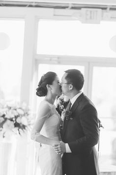 Joy and Ke tent wedding ceremony at Liberty House in Jersey City, NJ. Captured by NY NJ wedding photographers Pearl Paper Studio.
