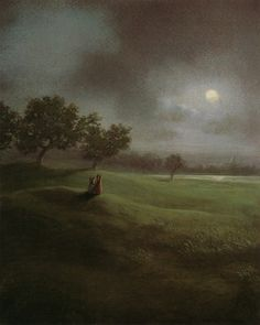 Michael Sowa Michael Sowa, Love Art, Book Illustration, Moonlight, Niedliche Illustration, Whimsical Art, Surreal Art, Poster, Painting & Drawing
