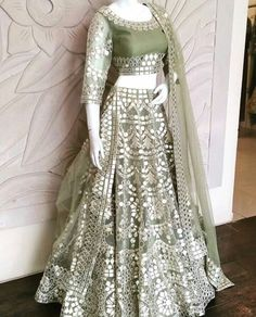 Want to flaunt your traditional looks? Check out these trending but traditional Gota Patti Lehenga Designs for Weddings. Indian Fashion Dresses, Indian Bridal Outfits, Indian Bridal Lehenga, Indian Gowns Dresses, Dress Indian Style, Indian Designer Outfits, Indian Sarees, Designer Dresses, Indian Wedding Dresses