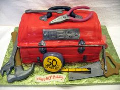 Toolbox Cake Tool Box Cake, Toolbox, Themed Cakes, Cake Decorating, Food Ideas, Google Search, Inspiration, Theme Cakes, Biblical Inspiration