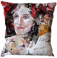 Lady Print Cushion Cover