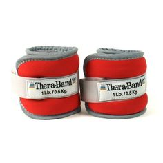 Thera-band Comfort Fit Ankle/Wrist Cuff Weights, Set of Red, Resistance Workout, Resistance Band Exercises, Vacation Workout, Ankle Weights, Kinesiology Taping, Weight Set, Thing 1, Massage Roller, At Home Workouts
