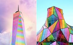 Bewitching Pictures of Colorized Buildings  Graphic designer and photographer Ramzy Masri wanders the globe equipped with his camera from New York where he lives to San Francisco passing by Bilbao or Berlin. Under his eyes the buildings of the whole world acquire multicolored tones and a much happier character.  Superb photomontages in which the walls and the roofs go from pink to yellow from green to sky blue from orange to turquoise reinventing at the same time the urban landscape and…