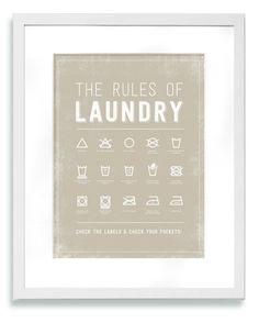 Laundry Room DIY — West Coast Capri, hang with pant hanger set also but make letters in this black like the other vintage prints.