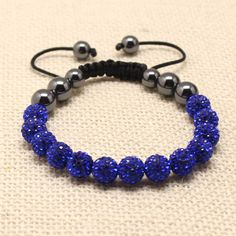 Weekend Deal !  Buy This Blue Beautiful Swarovski Crystal 13 Balls Shamballa Bracelet In Just £6.75 Pay directly on paypal at completethelookz@gmail.com