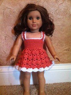 "Ravelry: Project Gallery for American Girl or 18"" Doll Baby Doll Dress Crochet Pattern pattern by Danielle Bonacquisti"