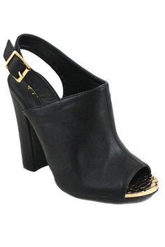 Immortal Sling Back Mule - Black - $48.00 | Daily Chic Shoes | International Shipping